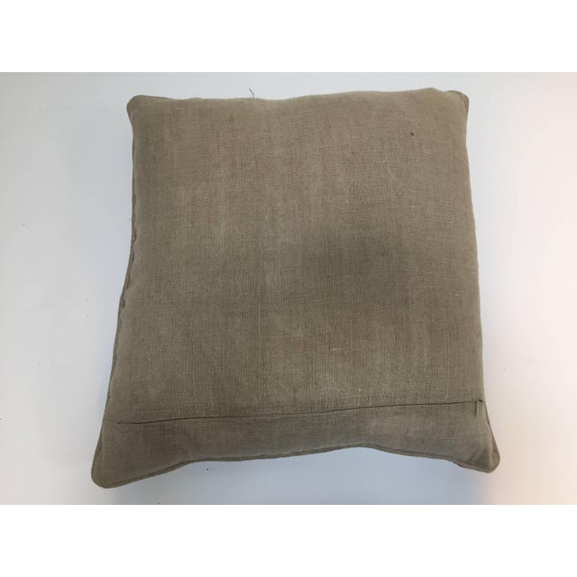Mid 20th Century Accent Pillow Embroidered With Moorish Metallic Threads Design For Sale - Image 5 of 10