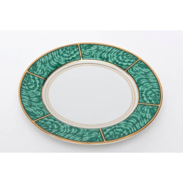 Set of Four Settings of Georges Briard Imperial Malachite China Service For Sale In Miami - Image 6 of 9