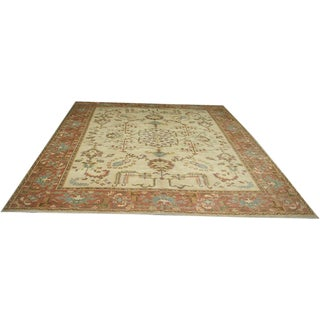 Antique Turkish Oushak Rug - 9′10″ × 12′11″