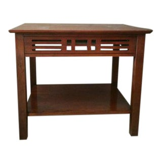 Mid-Century Modern Transitional Harden Cherry Accent Table