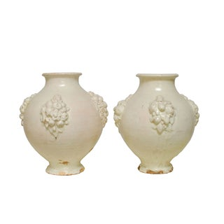 Italian Earthenware Pottery Jars - A Pair For Sale