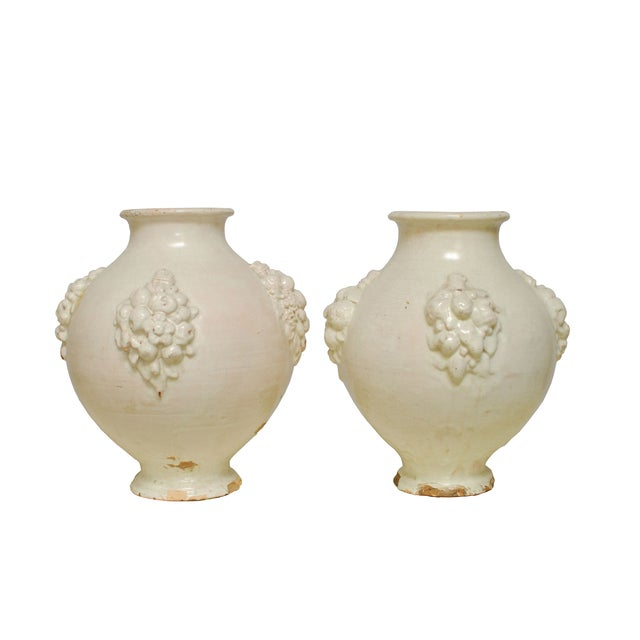 Italian Earthenware Pottery Jars - A Pair - Image 1 of 6