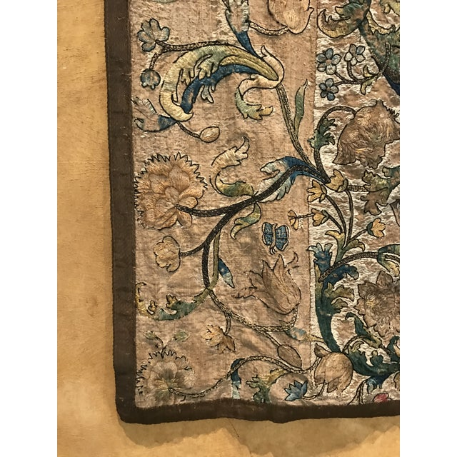 Needlework Tapestry With Intricate Shield and Floral Designs For Sale - Image 10 of 13
