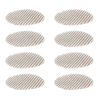 Tan Mini Stripe Placemats - Set of 8