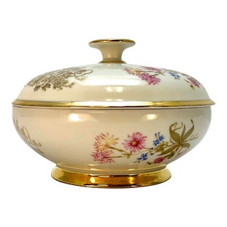 Johann Seltmann Vohenstrauss Bavaria Covered Bowl For Sale