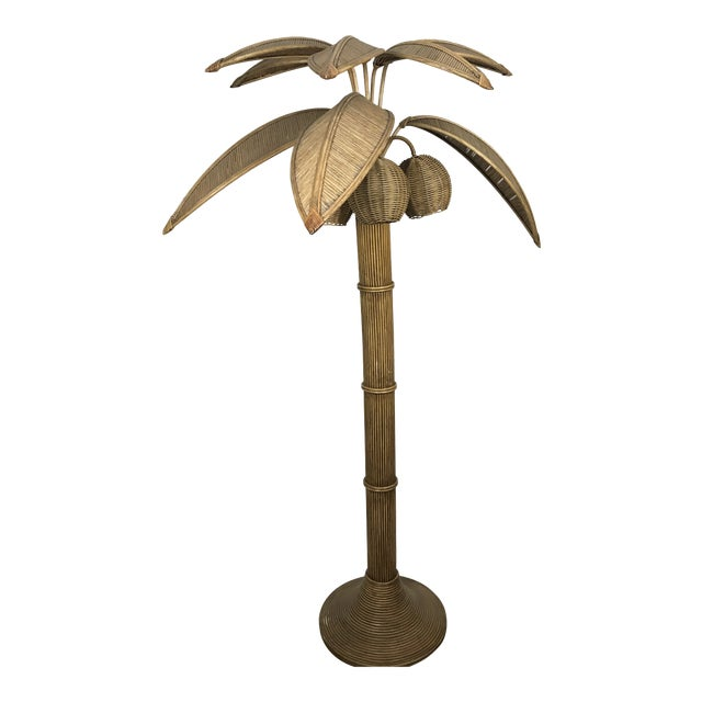 Mario Lopez Torres Palm Tree Floor Lamp For Sale