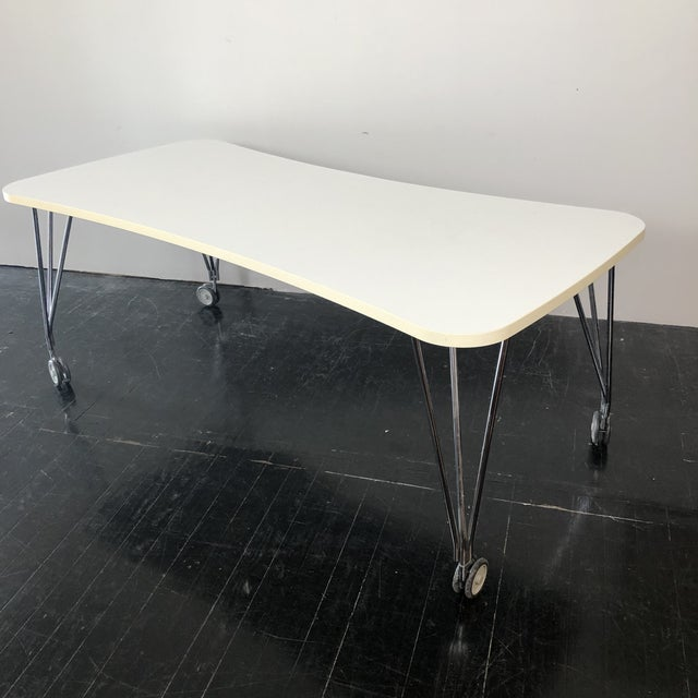 Max Desk by Ferruccio Laviani for Kartell. Wotks great as a small Conference Table or Dining Table. Featuring white...