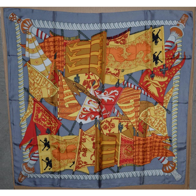 Hermes Flags & Banners Silk Scarf For Sale - Image 10 of 10
