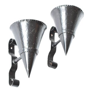 Pair of Cone Sconces For Sale
