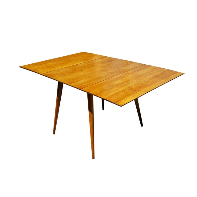 1950s Mid Century Modern Paul McCobb Planner Group Drop-Leaf Dining Table For Sale