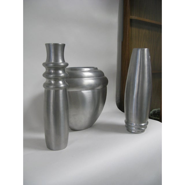 2003 Kilbarry Ireland Marquis by Waterford Pewter Vases - Set of 3 For Sale - Image 10 of 13