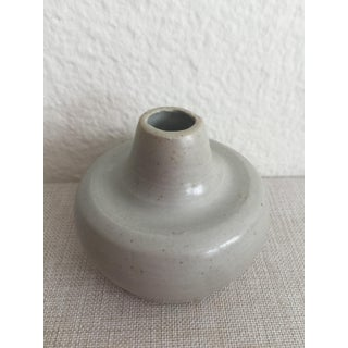 Boho Chic MANA Ceramics Dove Gray Pottery Bud-Vase Preview