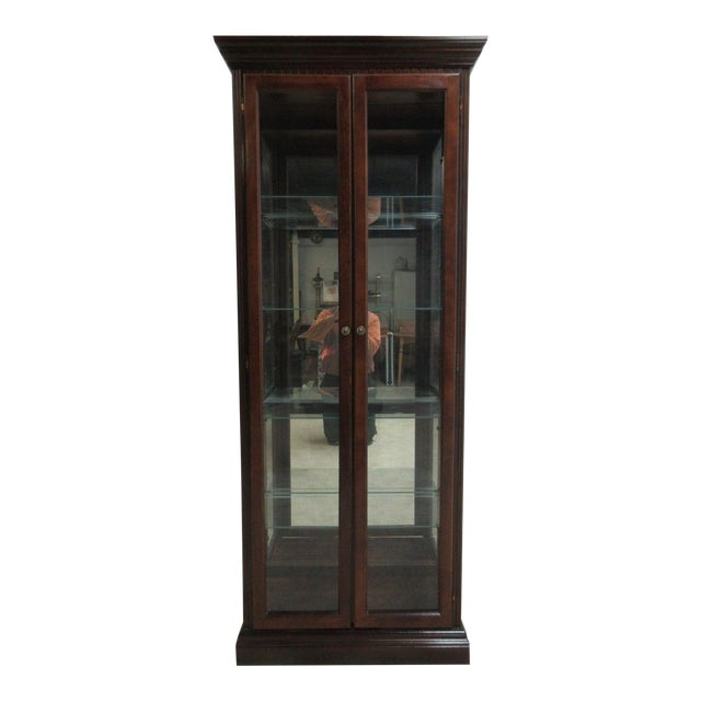Vintage Pulaski Mahogany China Cabinet For Sale