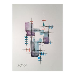 """Rebar 20"" Original Watercolor & Charcoal Painting"