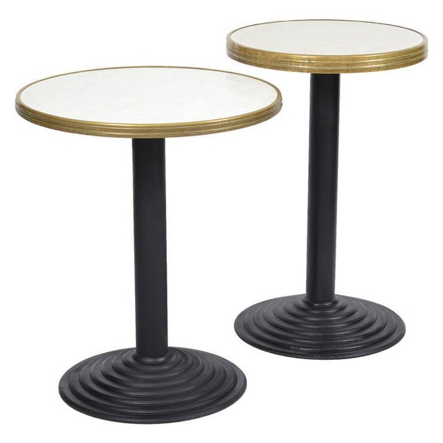French Art Deco Bistro Tables - Pair - Image 1 of 10