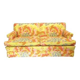 Dorothy Draper Floral Sofa