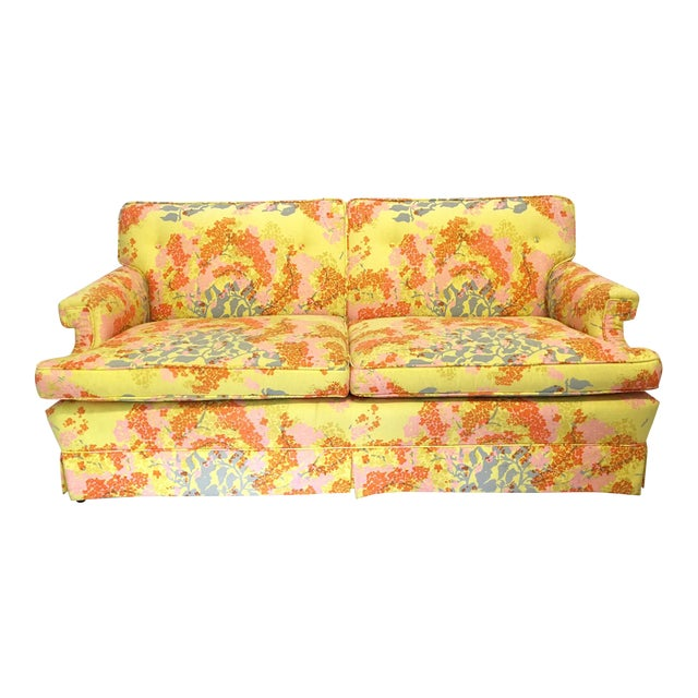 Dorothy Draper Floral Sofa - Image 1 of 6