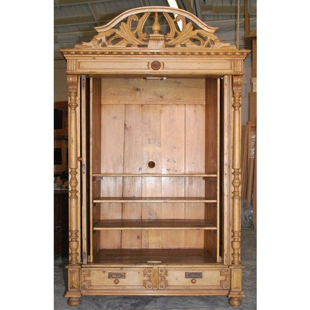 Wood 19th Century Baltic Wood Armoire For Sale - Image 7 of 9
