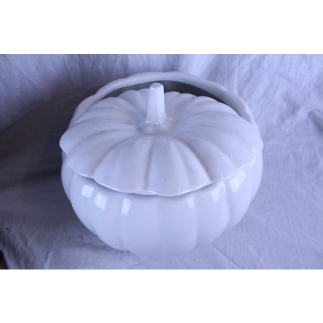 Americana 1990s Country Style Pumpkin Planter For Sale - Image 3 of 7