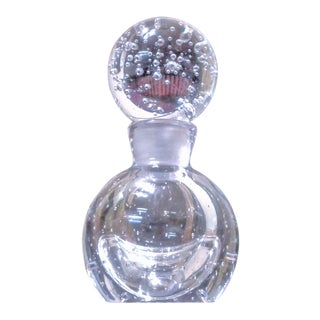 "1930's Carlo Scarpa for Venini Murano ""A Bolle"" Perfume Bottle Signed For Sale"