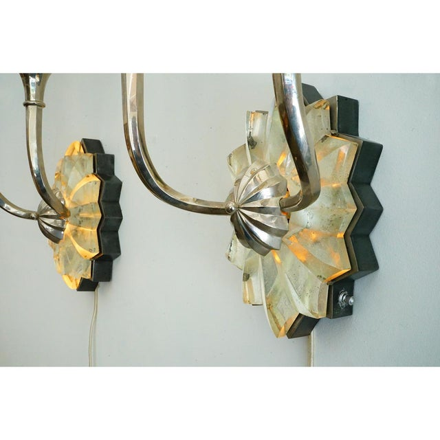Green French Art Deco Sconces For Sale - Image 8 of 9