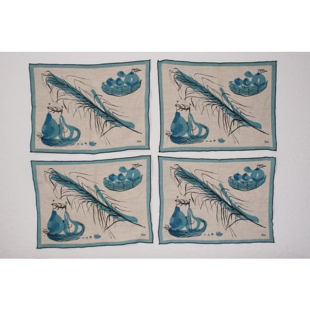 Vera Neumann Linen Placemats - Set of 4 - Image 2 of 7