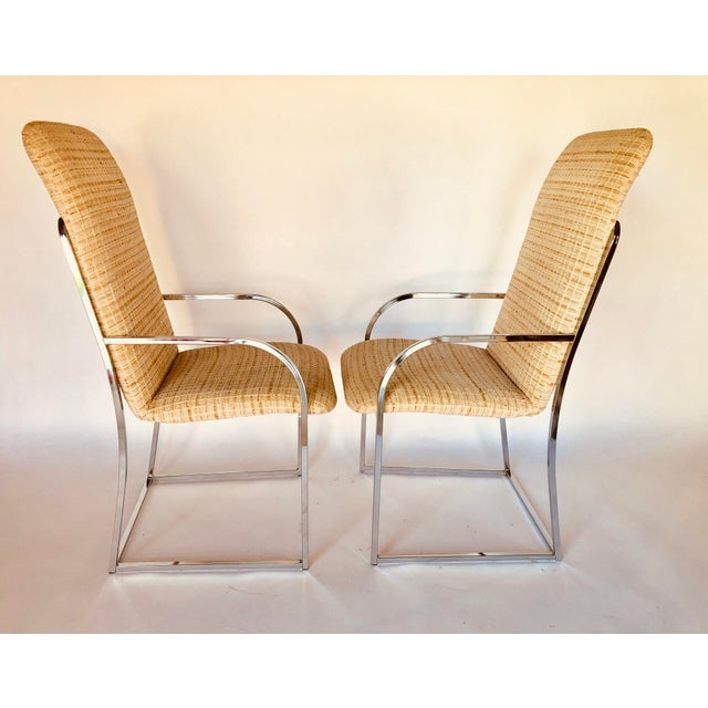 DIA - Design Institute America Design Institute of America Mid-Century High Back Dining Chairs - A Pair For Sale - Image 4 of 12