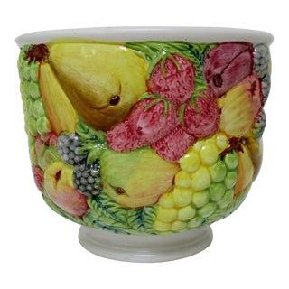 Italian Porcelain Cachepot For Sale