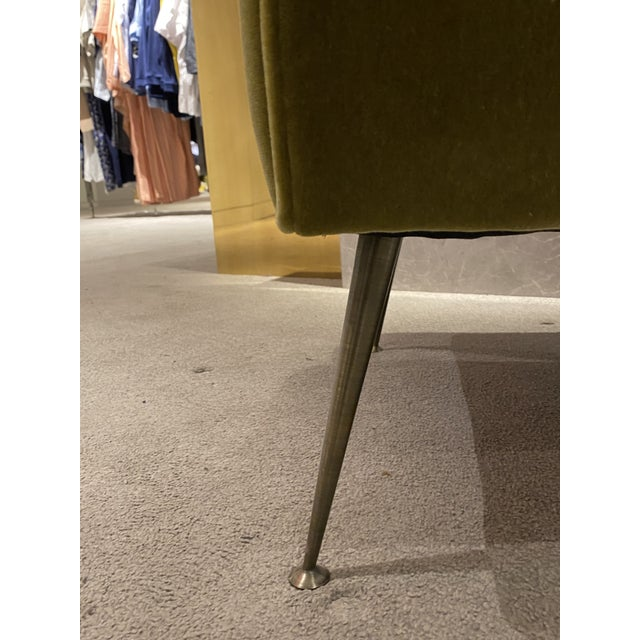 1960s Mid Century Chair With Mohair Upholstery For Sale - Image 5 of 6