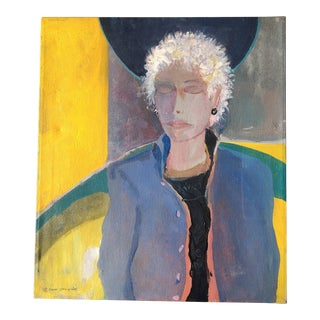 Original Jane Gilday Contemporary Portrait Painting 2000 For Sale