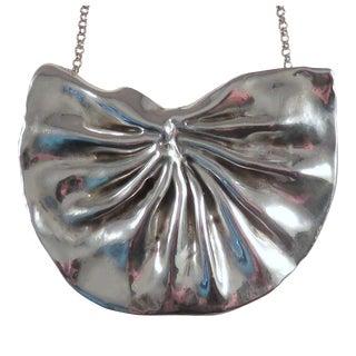 Modernist Bat-Ami Sterling Silver Necklace or Oversized Brooch For Sale