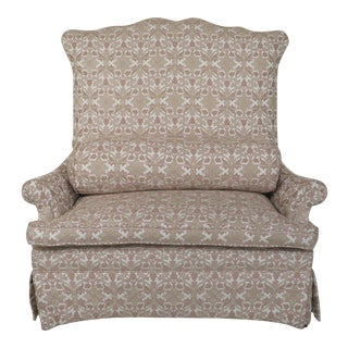 Custom Upholstered High Back Clean Loveseat