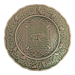 Bordallo Green Pig Plate For Sale
