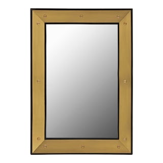 Flair Home Collection Edge Mirror in Black / Brass For Sale