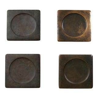 1960s Mid Century Solid Bronze Door Handles - Set of 4 For Sale