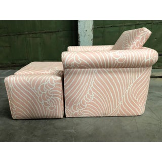 1980s Vintage Chair and Ottoman Preview