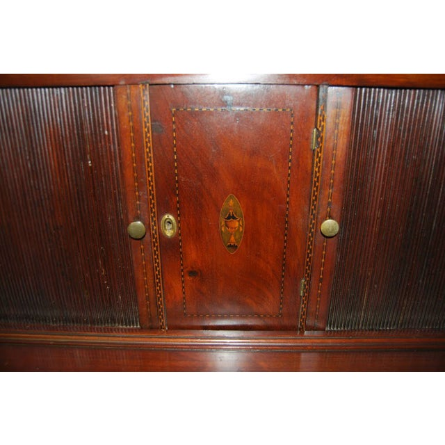 Federal Mahogany Tambour Secretary Chest - Image 2 of 8