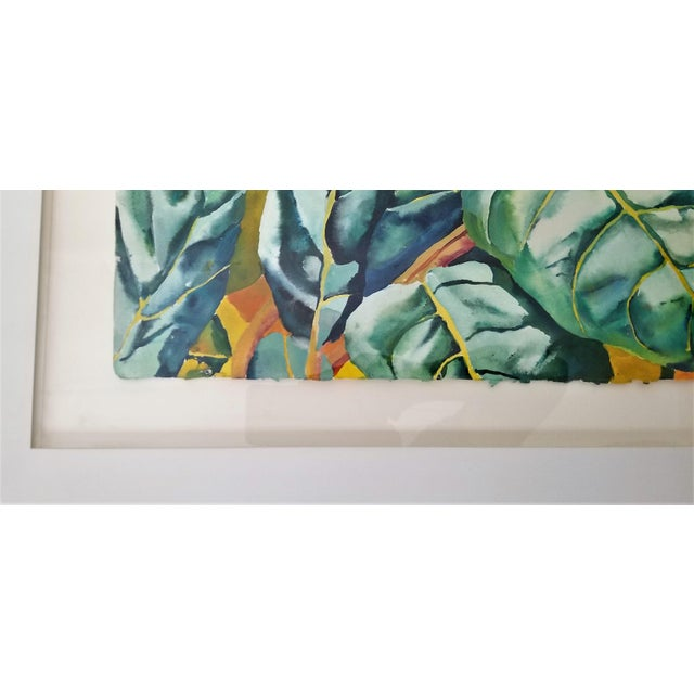 Blue Art Museum Quality Watercolor Painting by Patricia Tobacco Forrester For Sale - Image 8 of 13