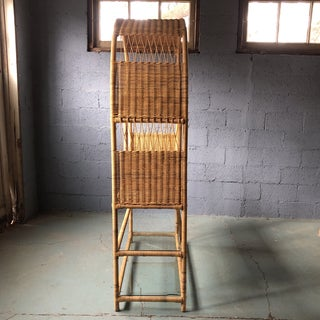 1970's Curved Top Rattan Wicker Etagere Preview