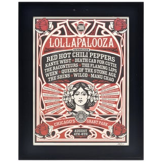 Shepard Fairey Lollapalooza 2006 Framed Print For Sale