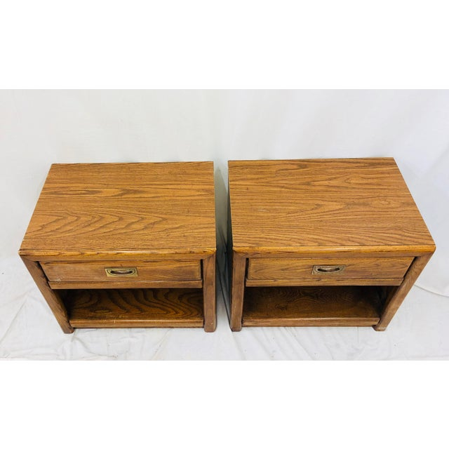 Pair Vintage Campaign Style Side Tables For Sale In Raleigh - Image 6 of 13
