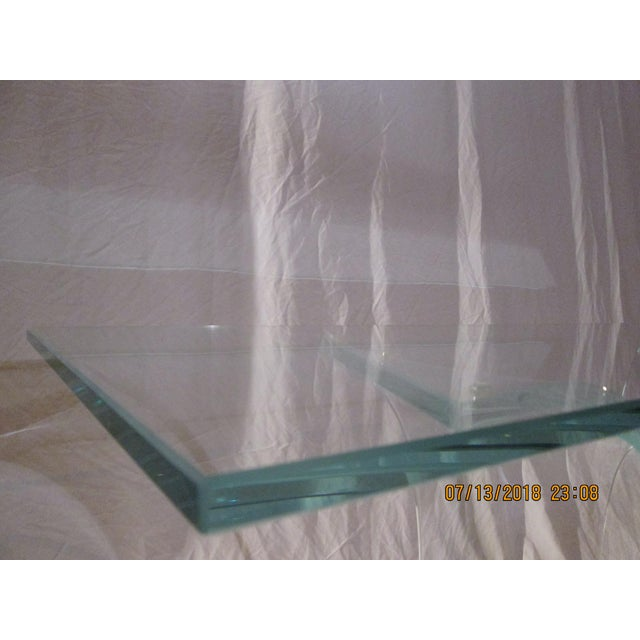 Late 20th Century Vintage Fiam Style All Glass Ghost Console Table For Sale In Phoenix - Image 6 of 10