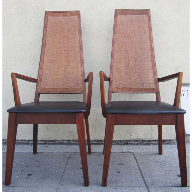 Mid-Century Cane-Back Armchairs by Tempo of Califo - Image 4 of 6