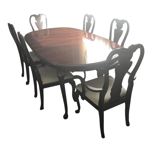 Thomasville Queen Anne Dining Room Set | Chairish