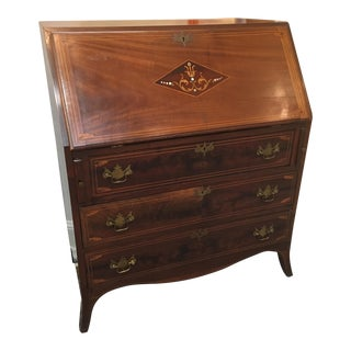 Antique Walnut Slant-Front Writing Desk