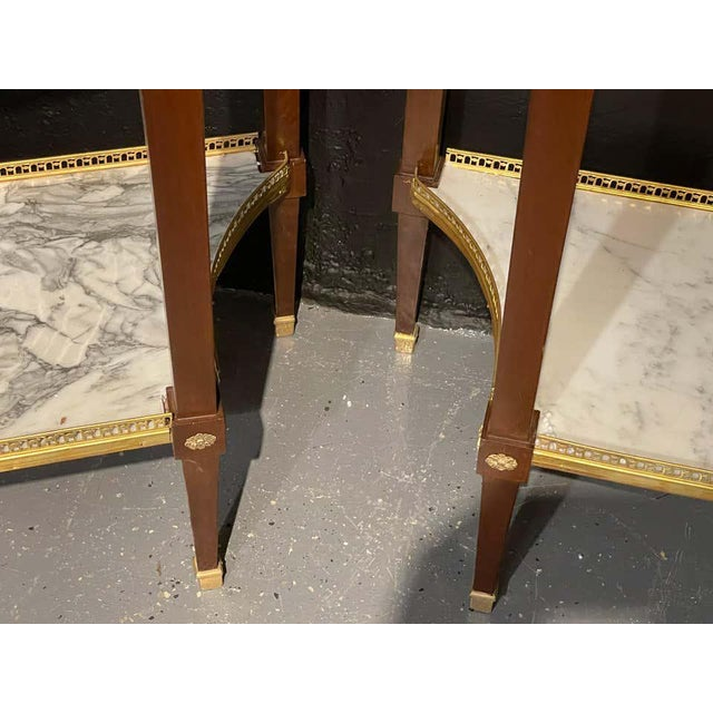 Russian Neoclassical Console Tables, Sofa Tables or Bedside Stands - a Pair For Sale In New York - Image 6 of 12