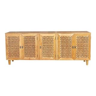 Grand Sodagoran Floral Jali Sideboard For Sale