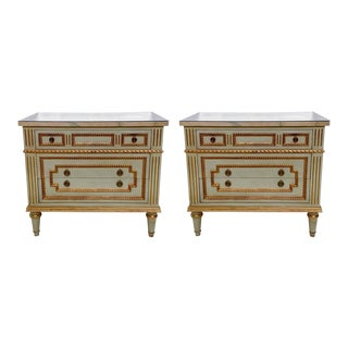 Pair of Julia Gray Side Ltd. Tables / Nightstands For Sale