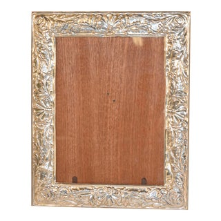 Late 19th C Sterling Silver Picture Frame For Sale