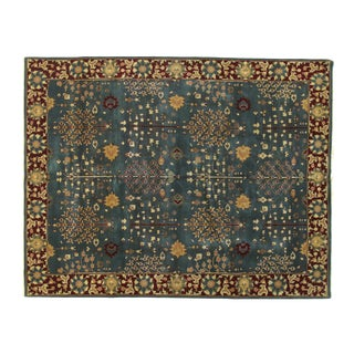 """Indian Agra Rug-8'1"""" X 9'9"""" For Sale"""